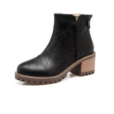 Women's Ankle Boots Pu Leather Short Boots Shoes