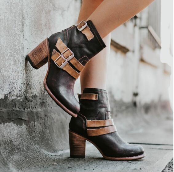 Women's Motorcycle Boots Autumn and Winter