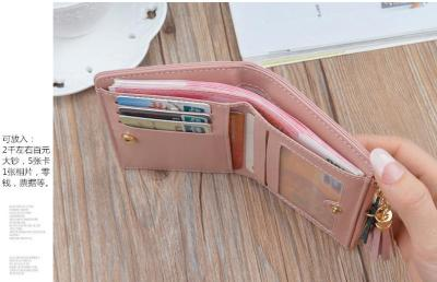 Geometric Women Wallets with Zipper Pink Phone Pocket Purse Card Holder Patchwork Women Long Wallet Lady Tassel Short Coin Purse