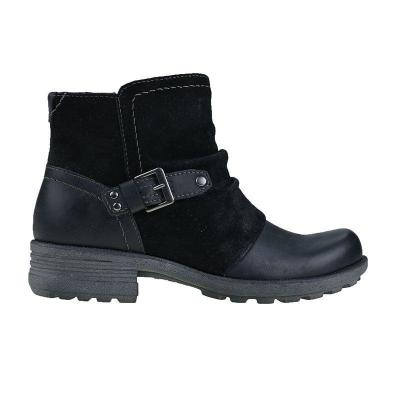 Side Zipper Buckle Strap Chunky Heel Ankle Boots