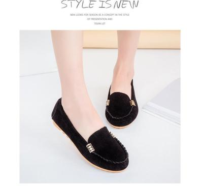 Women Flat Shoes Plus Size 43-44 Sewing Shallow Beautiful Loafers Women Suede Rubber Cozy Slip On Shoes For Women