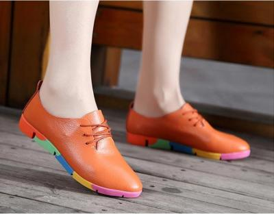 2020 new breathable genuine leather flats shoes woman sneakers tenis feminino nurse peas flats shoes plus size women shoes