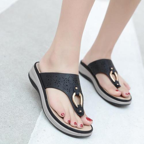2020 Summer Women Slippers Thick Sole Flat Platform Shoes Flip Flops Women Beach Slippers Plus Size 42 A908