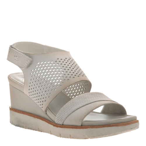 MILKY WAY in DOVE GREY Wedge Sandals