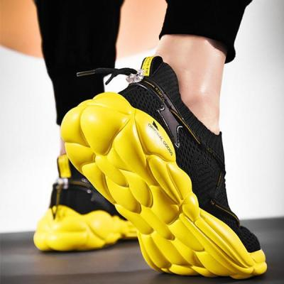 Casual Sportive Breathable Korean Style Flyknit Platform Shoes Sneakers