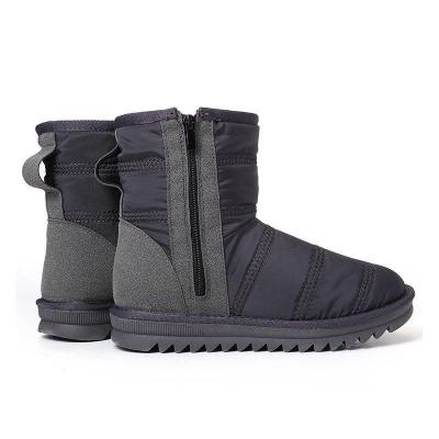Large Size Splicing Warm Terry Lined Mid Calf Winter Women Snow Boots