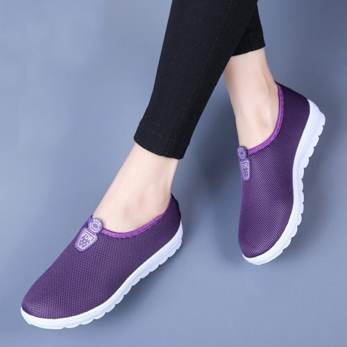 YOUYEDIAN 2019 Women Flats Shoes Walking Sneakers Women Flats Casual Shoes Slip On Soft Bottom Ladies Flat Loafers Shoes
