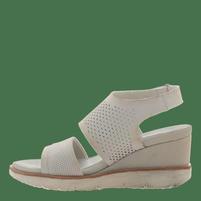 MILKY WAY in DOVE GREY Wedge Sandals