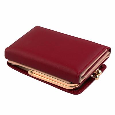 Wallet Women 2020 Lady Short Women Wallets Black Red Color Mini Money Purses Small Fold PU Leather Female Coin Purse Card Holder