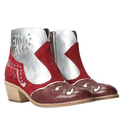 Date Split Joint Faux Suede Block Heel Boots