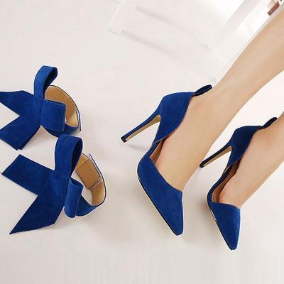 Bow Tie Strap Wedding Party High Heels