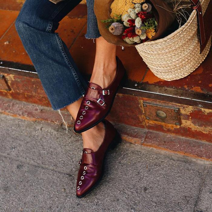 Fashion Pointed Toe Women Low Heel Plain Boots