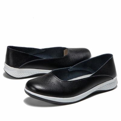 Flat Heel Paneled Comfort Flats