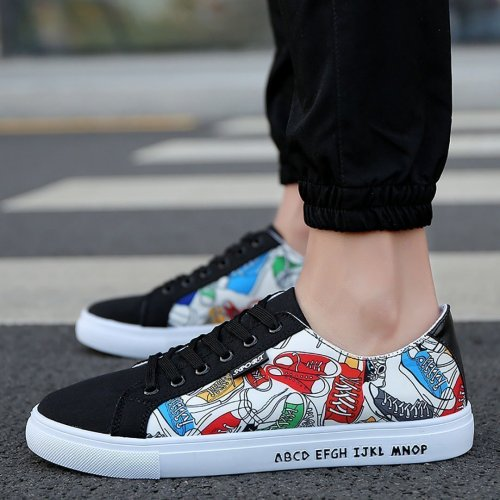 Men breathable casual low help canvas shoes