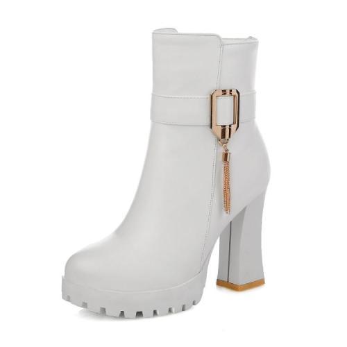 Women Shoes Autumn and Winter High Heel Platform Short Boots