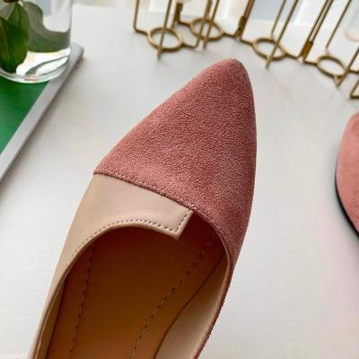 2019 Flat Shoes Women Sweet Flats Shallow Women Boat Shoes Slip On Ladies Loafers Spring Women Flats Pink