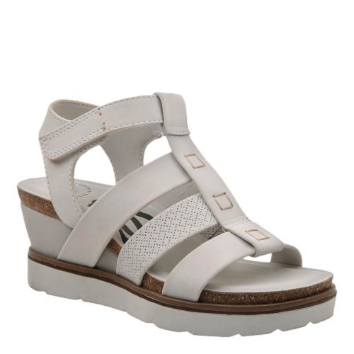 NEW MOON in DOVE GREY Wedge Sandals