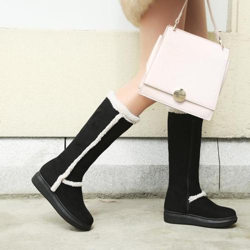 Women's Warm Fur Lined Zipper Mid-Calf Winter Snow Boots
