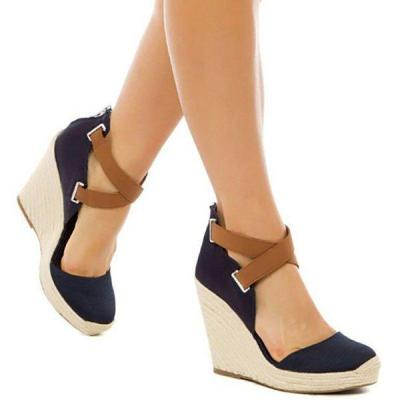 Women Wedge Espadrille Sandals Casual Sexy Shoes