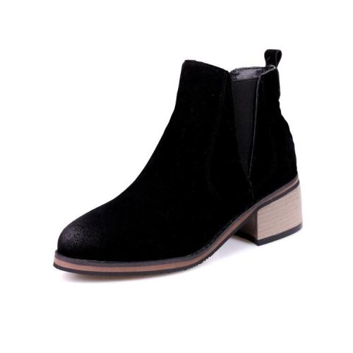 Women's Ankle Boots Fall/winter Retro Medium Heel Short Boots Shoes