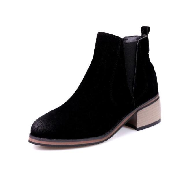 Women's Ankle Boots Fall/winter Retro Medium Heel Short Boots Shoes