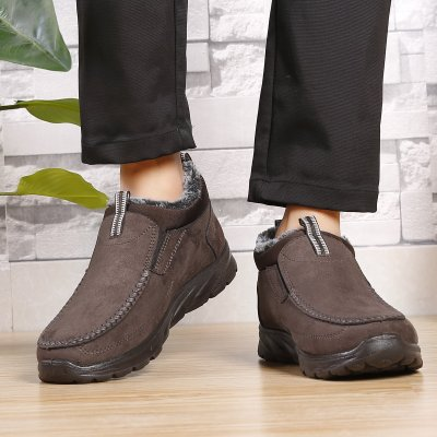 Menico Large Size Men Suede Comfy Warm Plush Lining Ankle Boots