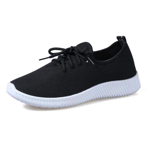 cuteshoeswearWomen Sneakers Outdoor Solid Round Toe Breathable Loafers Soft Leisure Flat Running Shoes Sports Shoes Light Bottom Shoes #1007