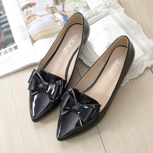 Spring Shoes Women 2019 New Pointed Sweet Style Big Size Women's Shoes 41-43 Summer OL Office Shoes Leisure Flat  YX0019
