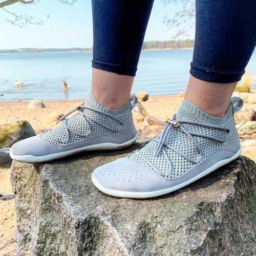Athletic Style Lace Up All Season Mesh Fabric Sneakers