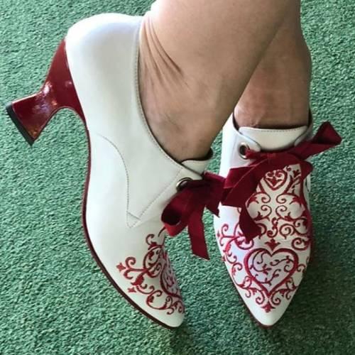 Women Comfy Vintage Slip-on Pump Shoes