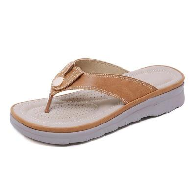 2019 Summer Women Sandals Flat Soft Shoes Flip Flops Casual Woman Summer Holiday Shoes Ladies Beach Sandals Black Red A1457