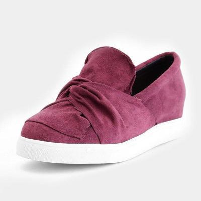 Blush Daily Flat Heel PU All Season Plus Size Sneakers