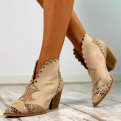 Women Winter  Slip-On Pearl Ankle Boots