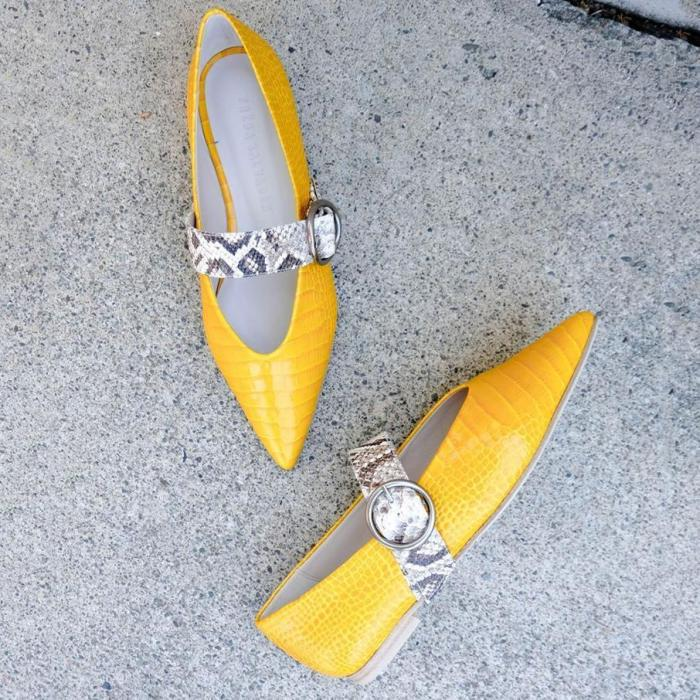 Spring Pointed Flat Shallow Shoes