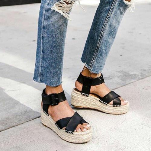 PU Casual Summer Wedge Heel Sandals