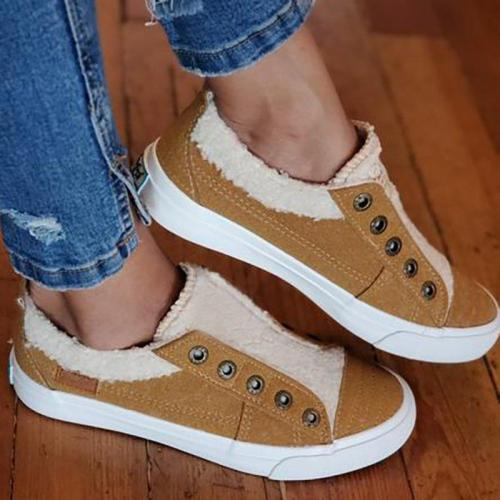 Women Casual Daily Comfy Faux Suede Flat Sneakers