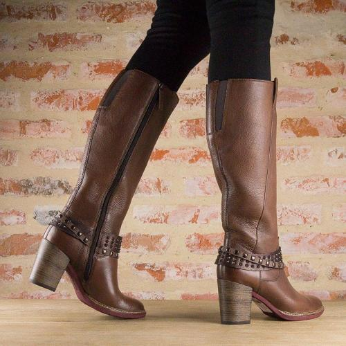 Women Vintage Artificial Leather Calf Boots
