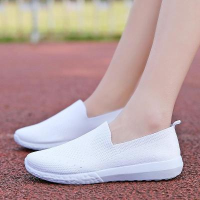 Womens Mesh Fabric Flat Heel Casual Sneakers