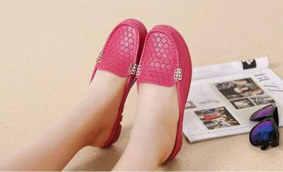PU leather flat shoes woman 2020 spring summer soft non-slip casual women shoes fashion Breathing hole home slips ladies shoes