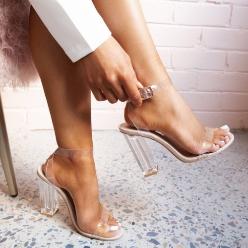One-Line Buckle High Heels Fashion Sandals
