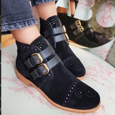 Flat Flat Heel Round Toe Boots