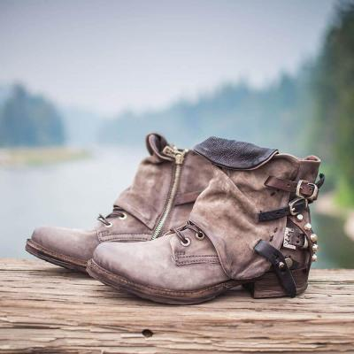 Brown Flat Heel  Spring/fall Boots