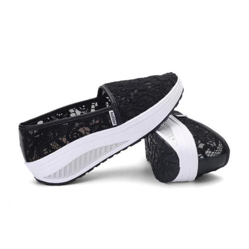 Breathable Loafers Hollow-out Mesh Platform Shoes