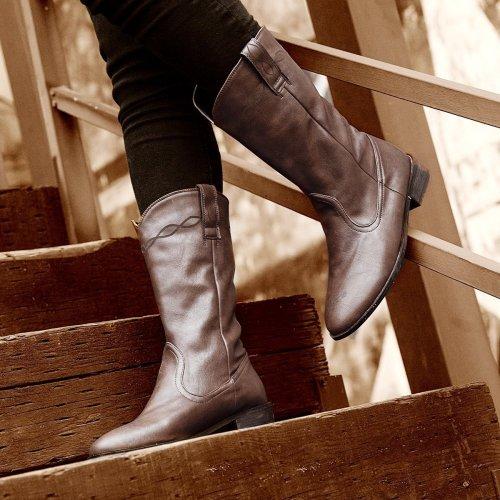 Women's vintage low heel ankle boots