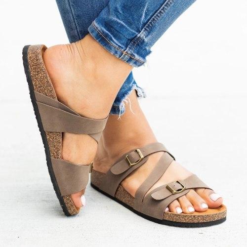 Cuteshoeswear CuteshoeswearLitthing Sandals Women Wedges Shoes Sandals Summer Flip Flop Chaussures Femme Platform Sandals 2020 Buckle Sandalia Feminina