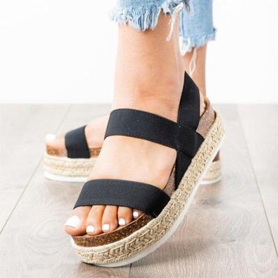 Women's Casual Comfy Open Toe Platform Espadrille Sandals