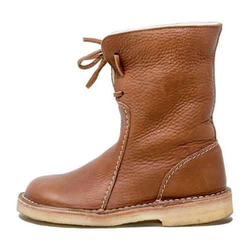 Women Winter Snow Boots Warm Comfy Soft Leather Boots