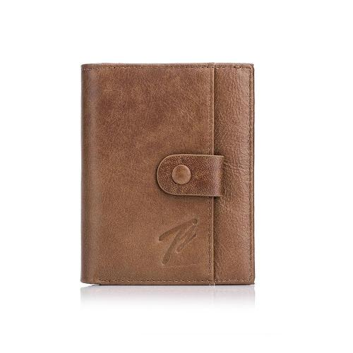 Cowhide Retro Leather Short Wallet