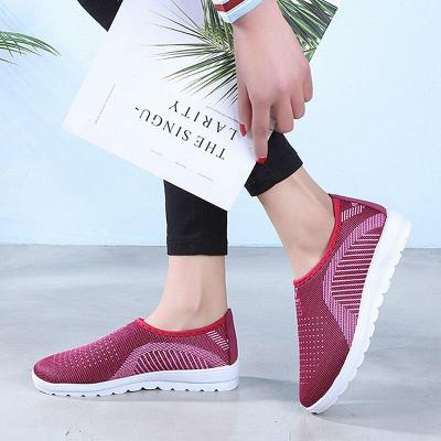Mesh women sneakers Breathable Slip On casual shoes women fashion comfortable Summer Flat Vulcanize Shoes Zapatos Mujer VT248