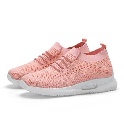 Womens Casual Lace-Up Flat Heel Athletic Sneakers